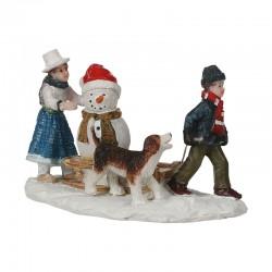 Scène Snowman Sledge de la marque Luville