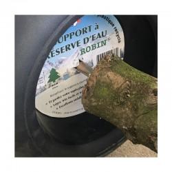 Sapin naturel coupé / pied percé Abies Nordmann + support à réserve d'eau - 125/150 cm - Label Rouge