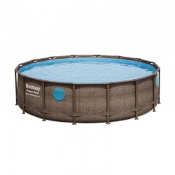 Piscine Power Steel Swim Vista ronde - 4,88 x 1,22 m de la marque Bestway