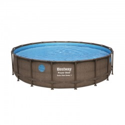 Piscine Power Steel Swim Vista ronde - 5,49 x 1,22 m de la marque Bestway
