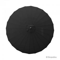 Parasol rond Zen - Noir -...