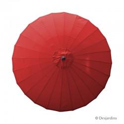 Parasol rond Zen - Rouge -...