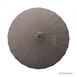 Parasol rond Zen - Taupe -...