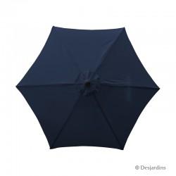 Parasol rond hexa - Bleu...