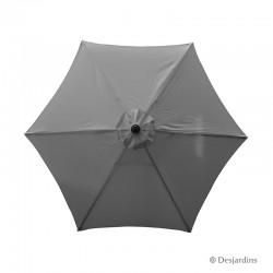 Parasol rond hexa - Gris -...