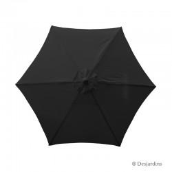 Parasol rond hexa - Noir -...