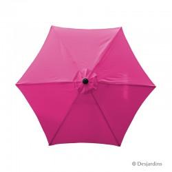 Parasol rond hexa - Rose -...