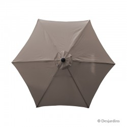 Parasol rond hexa - Taupe -...