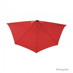 Parasol demi rond - Rouge -...