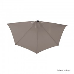 Parasol demi rond - Taupe -...