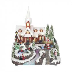 WINTER VILLAGE WITH CHURCH...