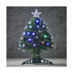 SAPIN FIBRE OPTIQUE VERT GENOVA MULTICOL. 45CM - LUCA LIGHTING