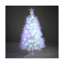 SAPIN FIBRE OPTIQUE BLANC DINARD MULTICOL. 90CM - LUCA LIGHTING