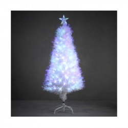 SAPIN FIBRE OPTIQUE BLANC DINARD MULTICOL. 120CM - LUCA LIGHTING