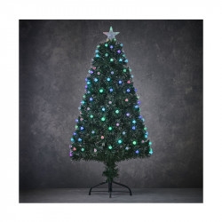 SAPIN FIBRE OPTIQUE VERT GENOVA MULTICOL. 150CM - LUCA LIGHTING