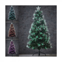 SAPIN FIBRE OPTIQUE VERT HIGHLAND MULTICOL. 150CM - LUCA LIGHTING