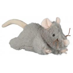 Souris peluche avec son 15cm gris - TRIXIE