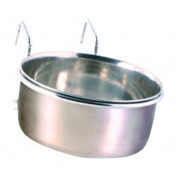 Écuelle inox avec support 600ml ø12cm - TRIXIE