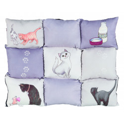 Couverture patchwork cat 55x45cm gris - TRIXIE
