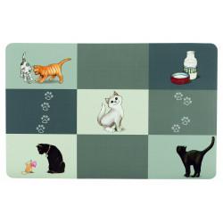 Patchwork set de table pour chats 44x28cm gris - TRIXIE