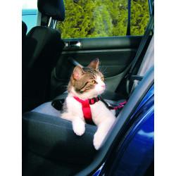 Harnais pour voiture pour chats 20–50cm/15mm rou - TRIXIE