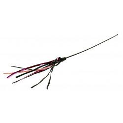 Canne à pêche avec straps cuir 65cm - TRIXIE