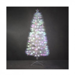 SAPIN FIBRE OPTIQUE BLANC DINARD MULTICOL. 180CM - LUCA LIGHTING