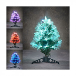 SAPIN FIBRE OPTIQUE VERT HIGHLAND MULTICOL. 45CM - LUCA LIGHTING