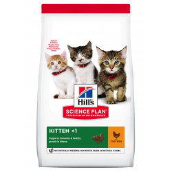 Croquettes pour chaton au poulet 3KG - HILL'S