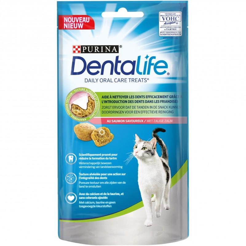 Friandise dentalife cat treats saumon 40g - PURINA