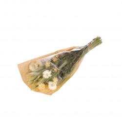 Bouquet de fleurs séchées S blanc/vert
