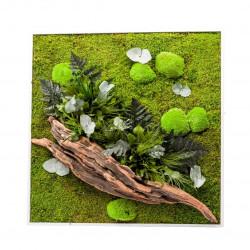 Tableau végétal nature carré xl 80x80