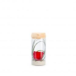 Verrine tube light S rouge
