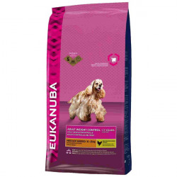 Croquettes Adult weight control moyenne race 3kg - EUKANUBA