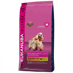 Croquettes Adult weight control moyenne race 15k - EUKANUBA