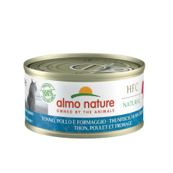 Aliment humide -  cuisine thon. poulet et fromag - ALMO NATURE