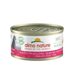 Aliment humide -  natural poulet et foie 70g  - ALMO NATURE