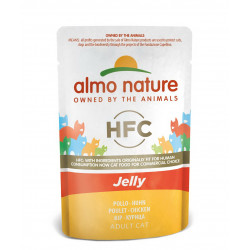 Aliment humide - gelée poulet 55g  - ALMO NATURE