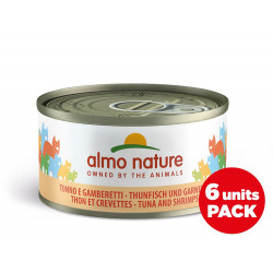 Pack aliments humides - thon crevettes 6x70g  - ALMO NATURE