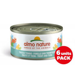 Pack aliments humides - truite et thon 6x70g  - ALMO NATURE