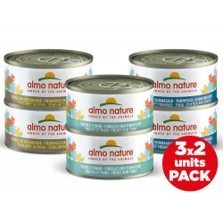 Pack aliments humides - multi thon 3 saveurs x2  - ALMO NATURE