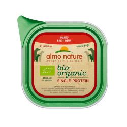 Aliment humide Bio single g.free bœuf 150g  - ALMO NATURE