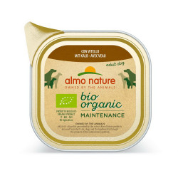 Aliment humide Bio organic veau 100g  - ALMO NATURE