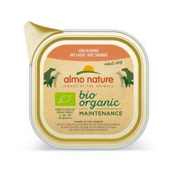 Aliment humide Bio organic saumon barquette 100g - ALMO NATURE