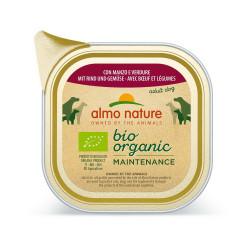 Aliment humide Bio organic boeuf et legumes 100g - ALMO NATURE