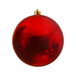 Boule uni brillant ø20 rouge - DECORIS