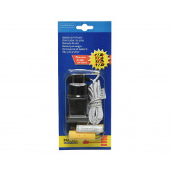 Adaptateur piles 3v 2x AA blanc - LUMINEO