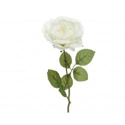 Tige rose soie paillettes 11x11x45cm blanc blanc - EVERLANDS