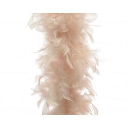 Guirlande boa plume 15x184cm perle - DECORIS