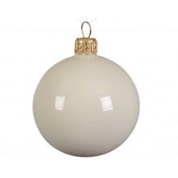 Boule en verre uni brillant ø8 blanc laine blanc - DECORIS